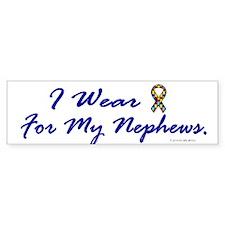 For My Nephews (Puzzle Ribbon) Bumper Bumper Sticker