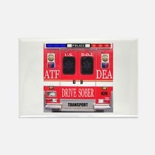 Emergency Services Vehicle Rectangle Magnet