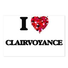I love Clairvoyance Postcards (Package of 8)