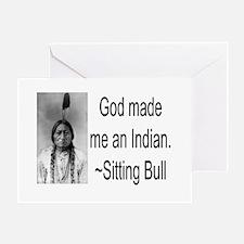 God made me an Indian Greeting Card