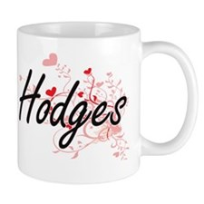 Hodges Artistic Design with Hearts Small Small Mug