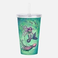 Mermaid with Octopus Acrylic Double-wall Tumbler