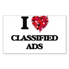 I love Classified Ads Decal