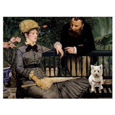 Westy in Manet's painting Poster