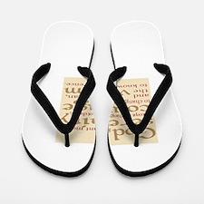 serenity prayer Flip Flops