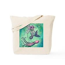 Mermaid with Octopus Tote Bag