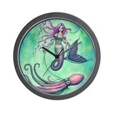 Mermaid with Octopus Wall Clock