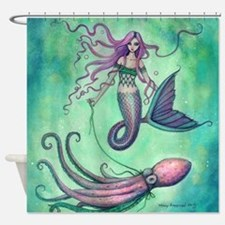Mermaid with Octopus Shower Curtain