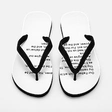 the Lord's Prayver Flip Flops