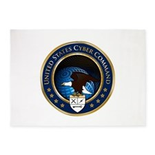 US Cyber Command Emblem 5'x7'Area Rug