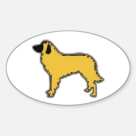 estrela mountain dog color silhouette Decal