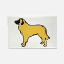 estrela mountain dog color silhouette Magnets