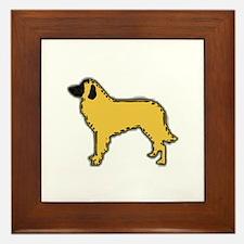 estrela mountain dog color silhouette Framed Tile