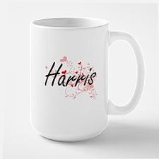 Harris Artistic Design with Hearts Mugs