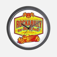 Rockabilly On The Route Wall Clock