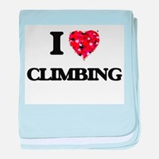 I love Climbing baby blanket