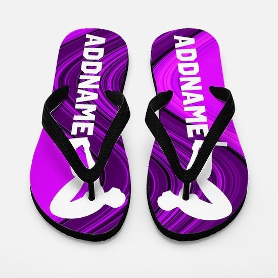 Purple Swimmer Flip Flops