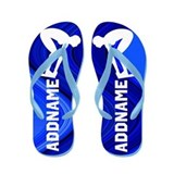 Personalized kid girl swim Flip Flops