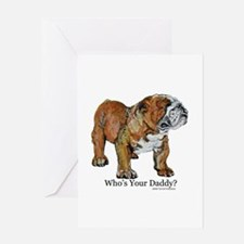 Bulldog Daddy Greeting Card