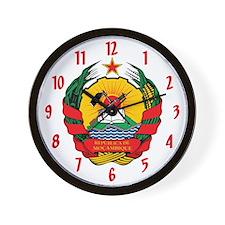 Emblem of Mozambique Wall Clock