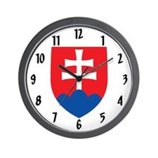 Slovakia Coat of Arms Wall Clock