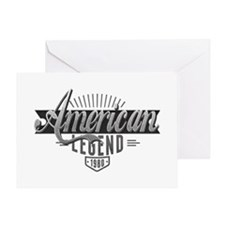 Birthday Born 1980 American Legend Greeting Card