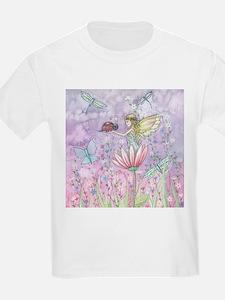 A Friendly Encounter Fairy and Ladybug Fan T-Shirt