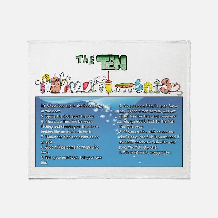 The Ten Fishmandments Throw Blanket