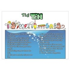 The Ten Fishmandments Poster