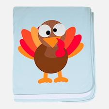 Funny Turkey baby blanket