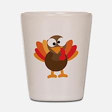 Funny Turkey Shot Glass