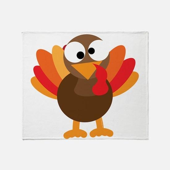 Funny Turkey Throw Blanket