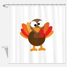 Funny Turkey Shower Curtain