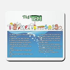 The Ten Fishmandments Mousepad