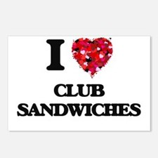I love Club Sandwiches Postcards (Package of 8)