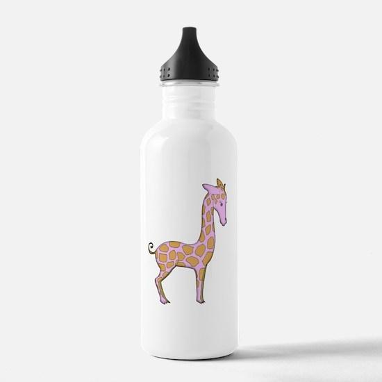 Adorable Pink Giraffe Water Bottle