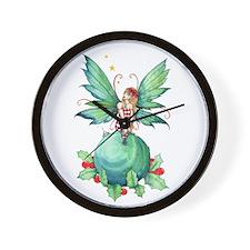 Little Christmas Fairy Wall Clock