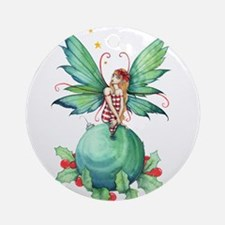 Little Christmas Fairy Ornament (Round)