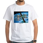 Space White T-Shirt with LIFEBOAT.COM