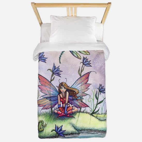 Magic at Dusk Fairy Dragonfly and Frog Twin Duvet