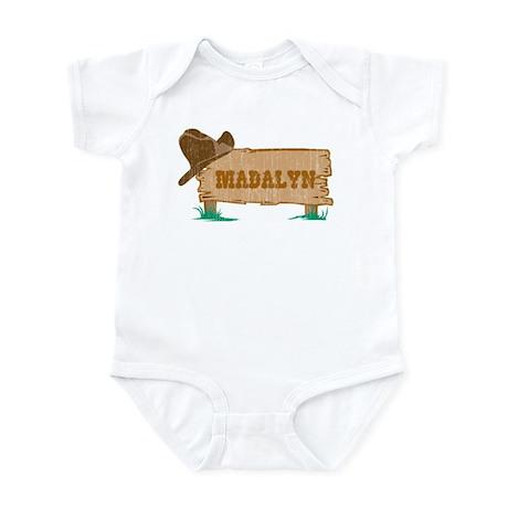 Madalyn western Infant Bodysuit