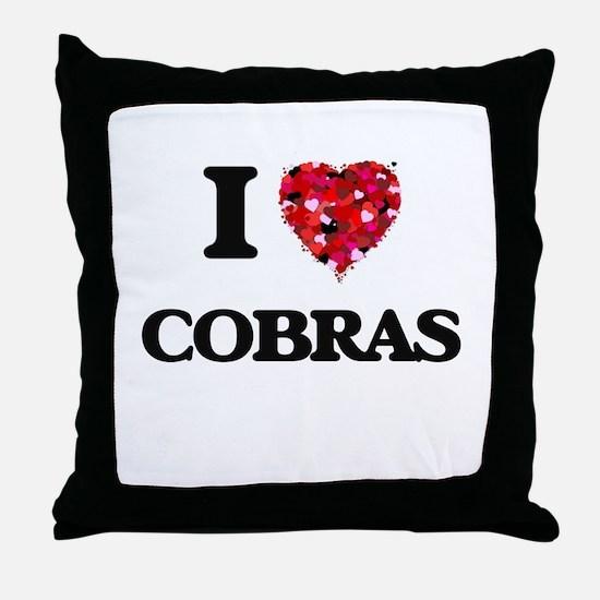 I love Cobras Throw Pillow