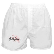 Gallagher Artistic Design with Hearts Boxer Shorts