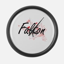 Fulton Artistic Design with Heart Large Wall Clock