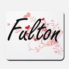 Fulton Artistic Design with Hearts Mousepad