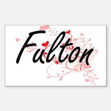 Fulton Artistic Design with Hearts Decal