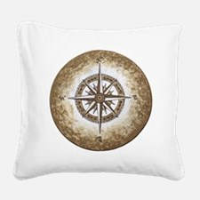 Cute Compass rose Square Canvas Pillow
