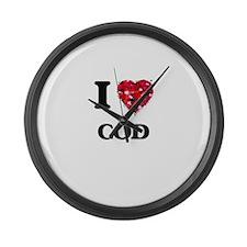 I love Cod Large Wall Clock