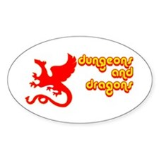 Dungeons and Dragons Oval Decal