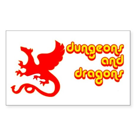 Dungeons and Dragons Rectangle Sticker